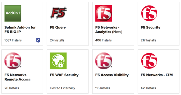 Eight Splunkbase F5 App